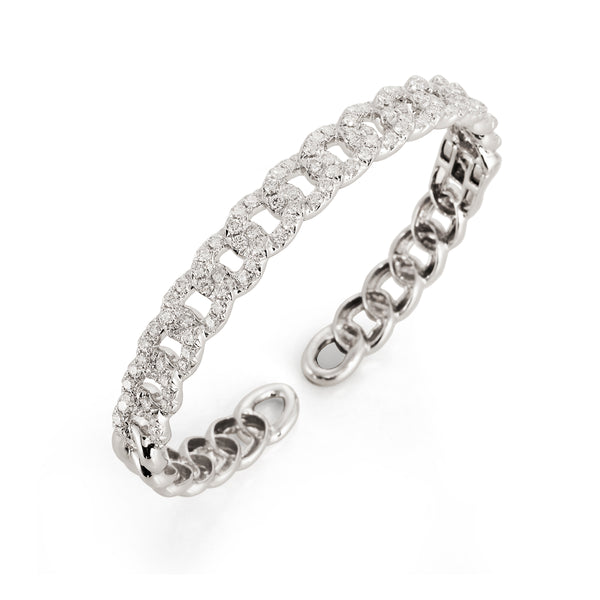 Diamond Curb Link Bangle Bracelet