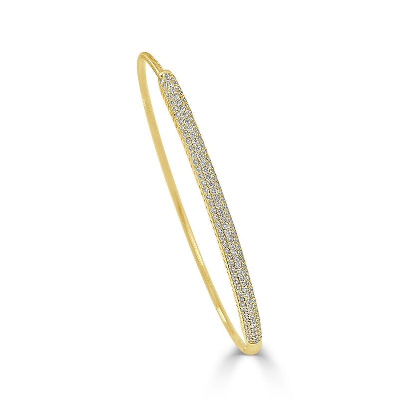 Sabrina Designs 14K Yellow Gold Stretch Diamond Bangle Bracelet