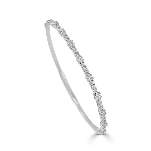 Large & Small Diamond Bangle