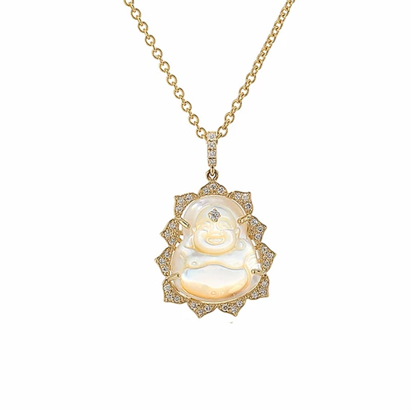 Small Diamond Buddha Necklace