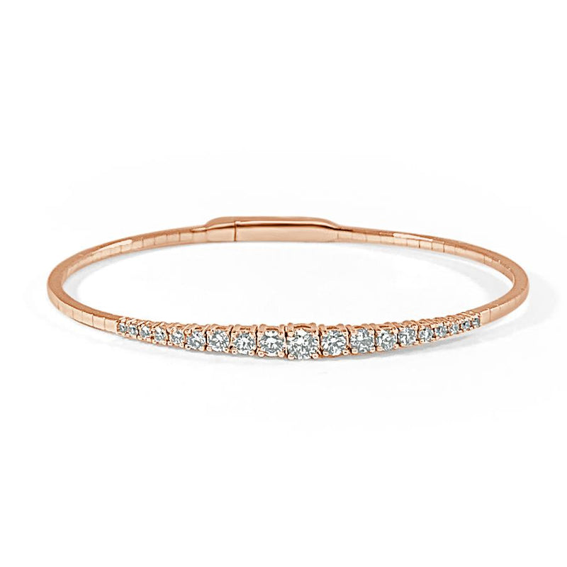 Sabrina Designs 14K Rose Gold Flexible Diamond Bangle