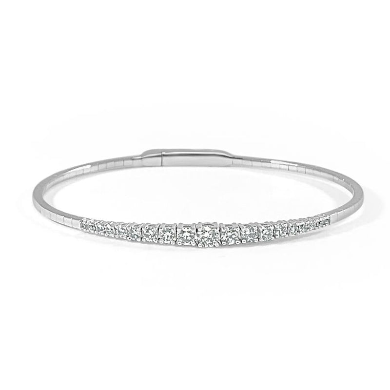 Sabrina Designs 14K White Gold Flexible Diamond Bangle