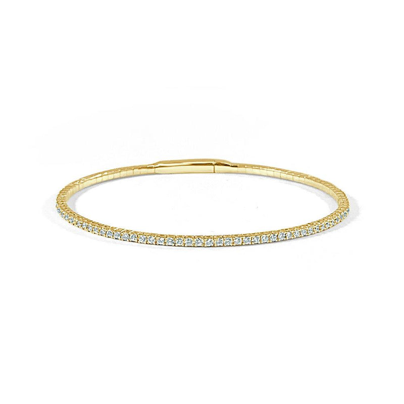 Sabrina Designs 14K Yellow Gold Flexible Diamond Bangle