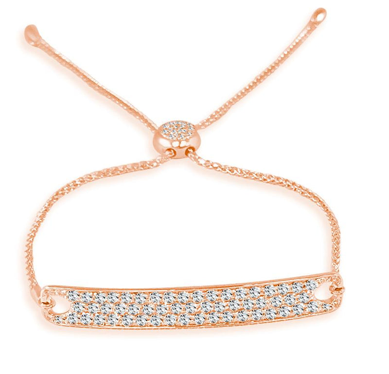 Sabrina Designs 14k Rose Gold Diamond Bar Bracelet