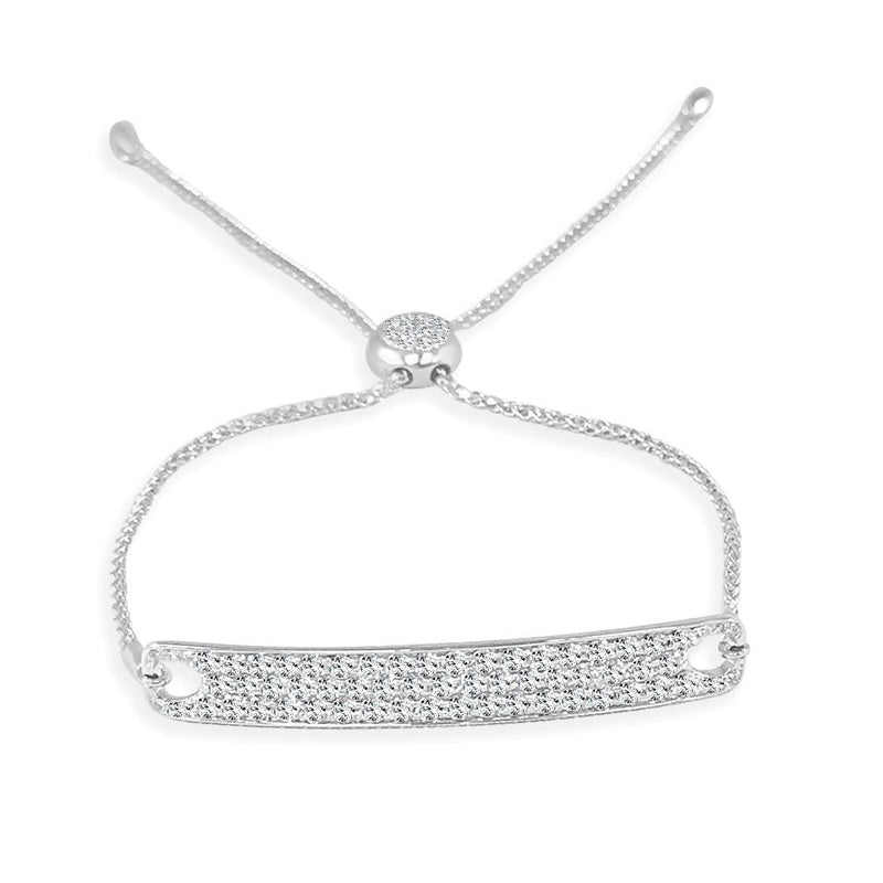 Sabrina Designs 14k White Gold Diamond Bar Bracelet