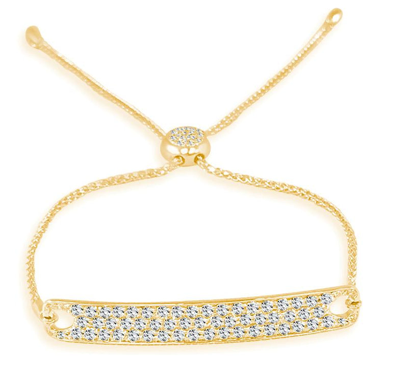 Sabrina Designs 14k Yellow Gold Diamond Bar Bracelet