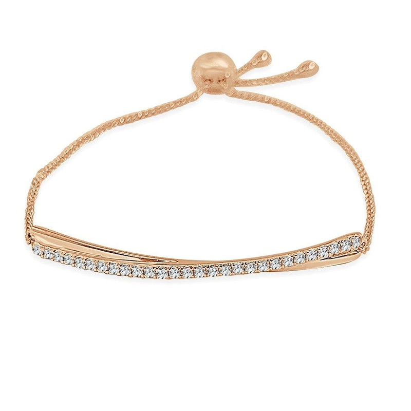Sabrina Designs 14K Rose Gold Diamond Bolo Adjustable Bracelet