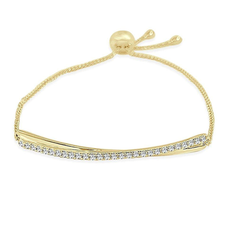 Sabrina Designs 14K Yellow Gold Diamond Bolo Adjustable Bracelet