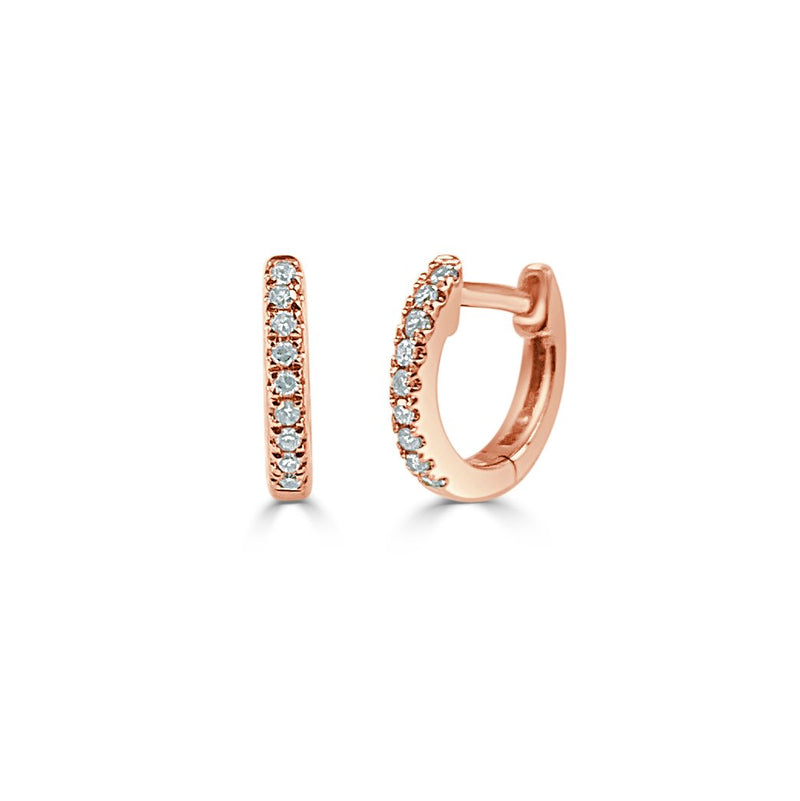 Sabrina Designs 14k Rose Gold Diamond Huggie Earrings