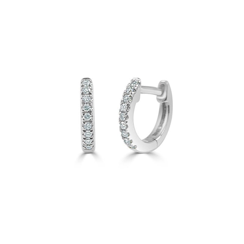 Sabrina Designs 14k White Gold Diamond Huggie Earrings