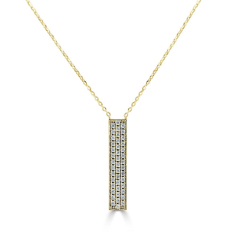 14K Yellow Gold Vertical Bar necklace
