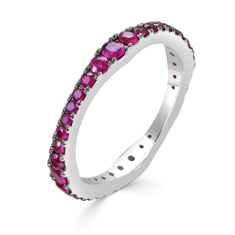 "<p style=""white-space: pre-wrap;"">14K Gold &amp; Ruby R-0.91 Stackable Ring"