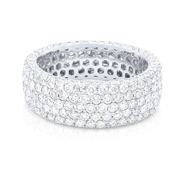 14K Gold & Diamond Pave Eternity Band