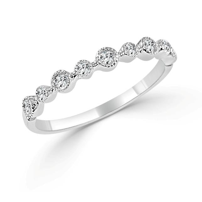 Sabrina Designs 14k White Gold Diamond Stackable Ring