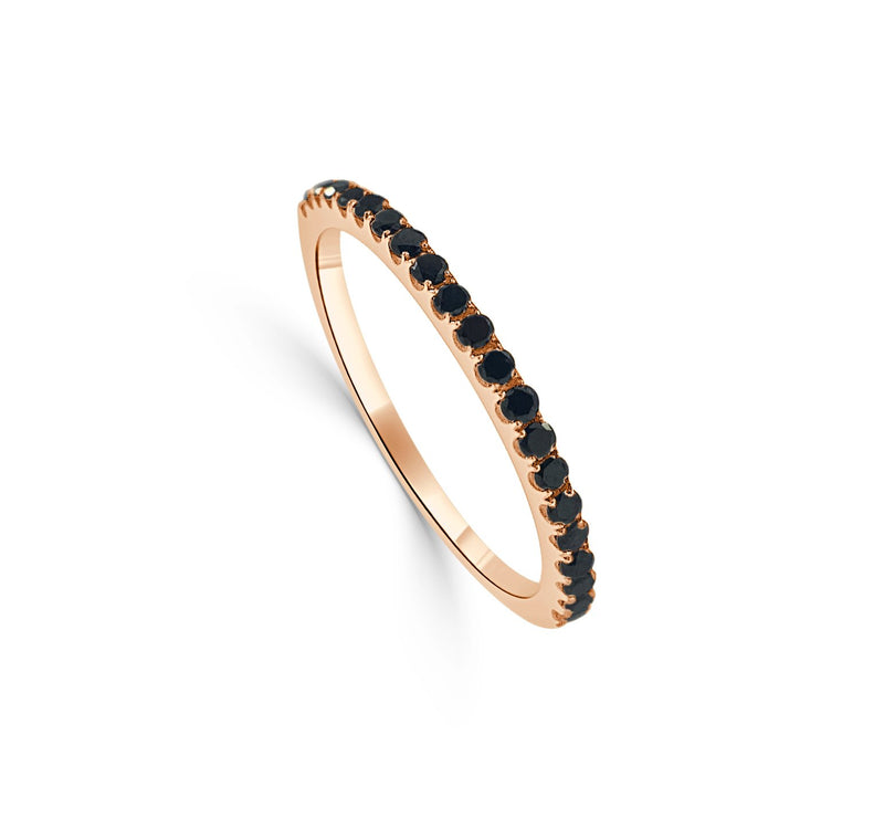 Sabrina Designs 14K Rose Gold Black Diamond Stackable Ring