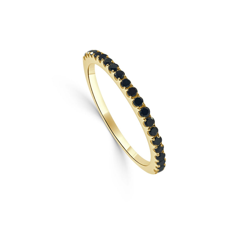 Sabrina Designs 14K Yellow Gold Black Diamond Stackable Ring