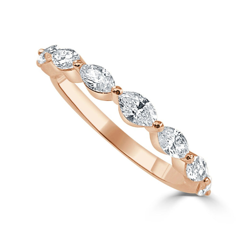 Sabrina Designs 14k Rose Gold Marquise Shape Diamond Band