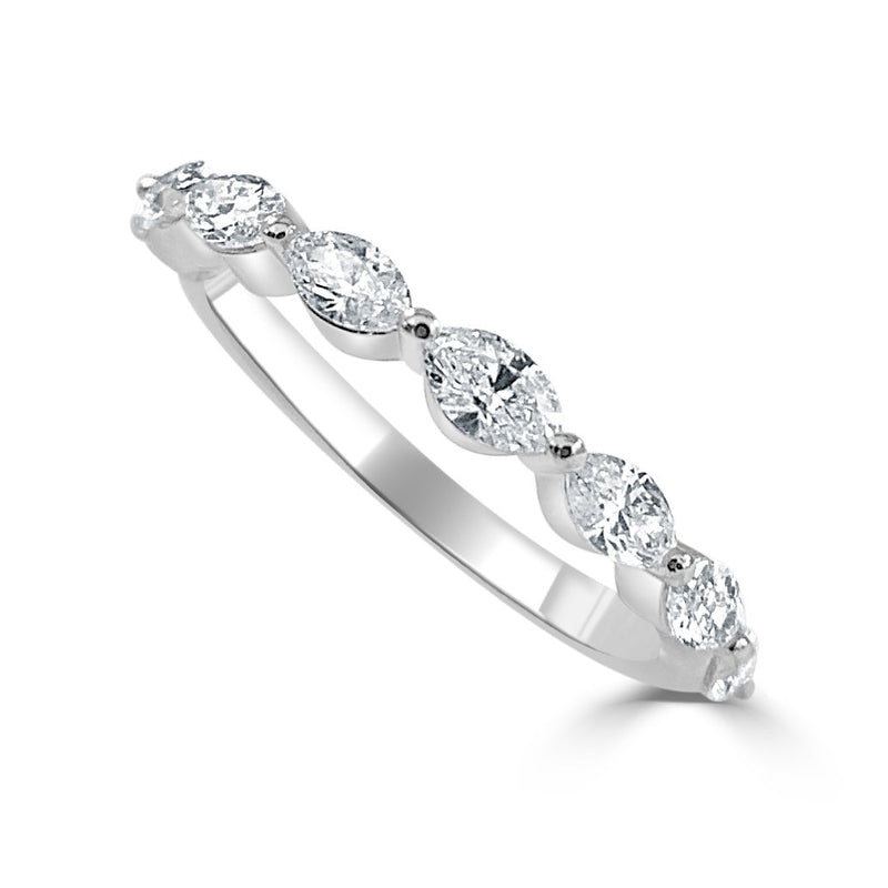Sabrina Designs 14k White Gold Marquise Shape Diamond Band