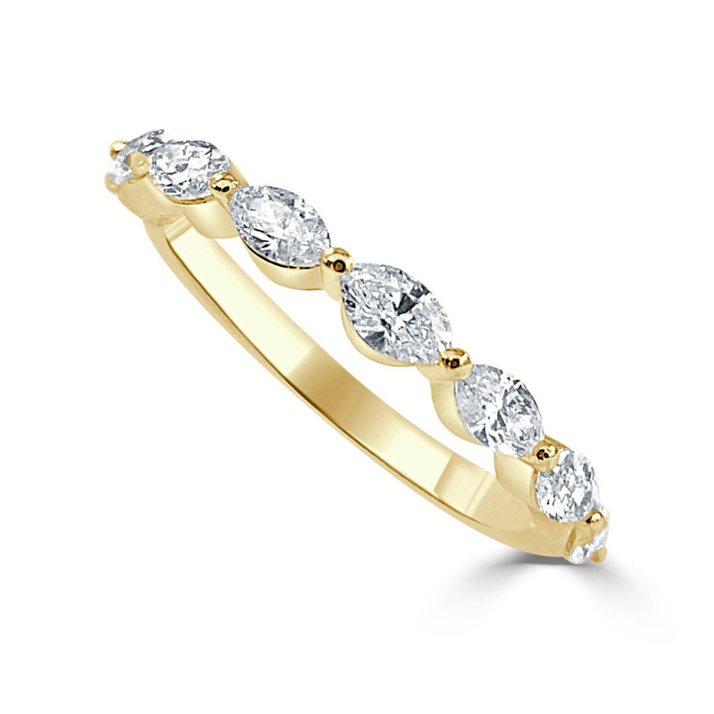 Sabrina Designs 14k Yellow Gold Marquise Shape Diamond Band