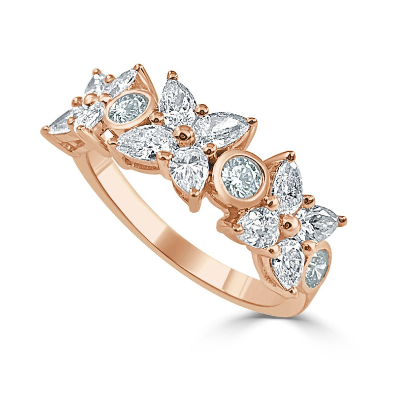 Sabrina Designs 14k Rose Pear Shape Diamond Band