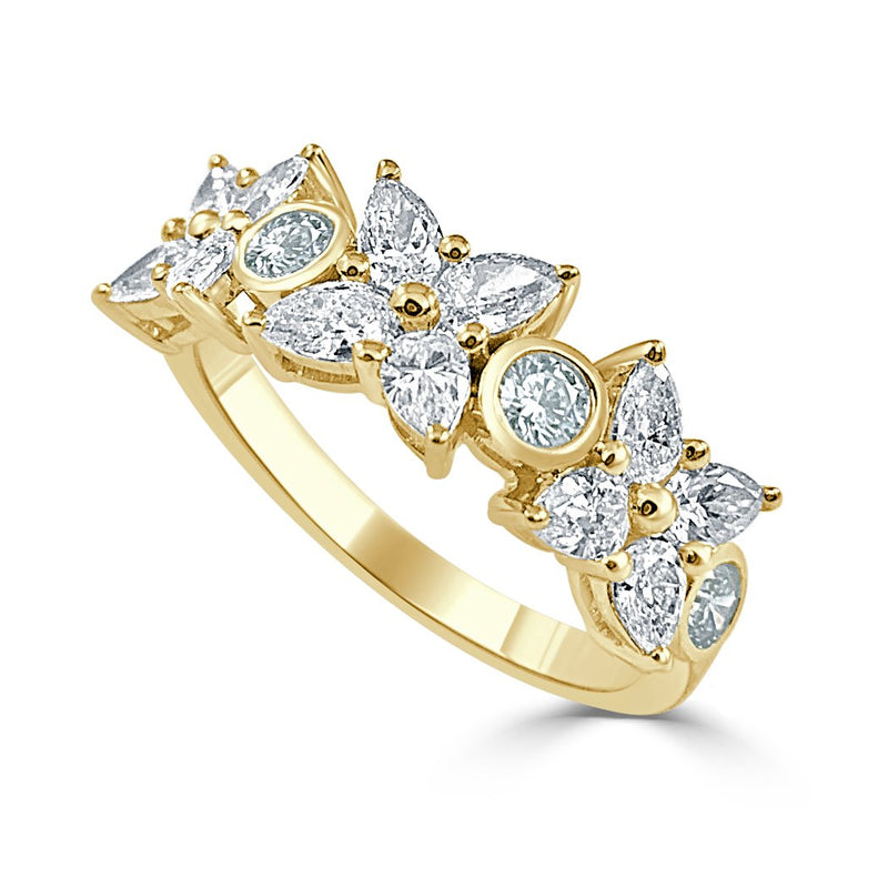 Sabrina Designs 14k Yellow Pear Shape Diamond Band