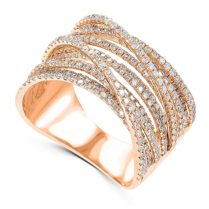Wide Diamond Crossover Band