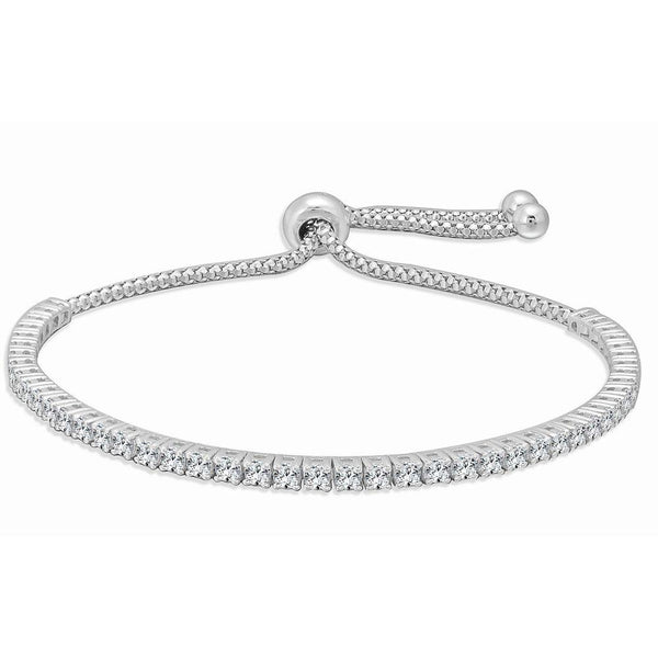 Sabrina Designs 18K White Gold Diamond Adjustable Bolo Bracelet