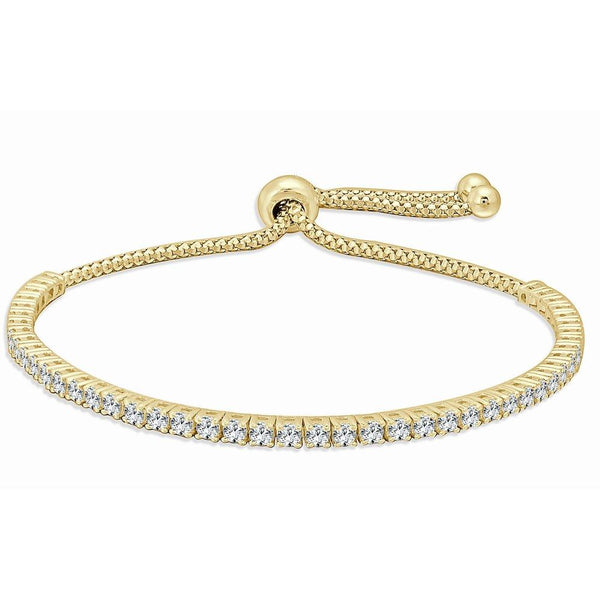Sabrina Designs 18K Yellow Gold Diamond Adjustable Bolo Bracelet