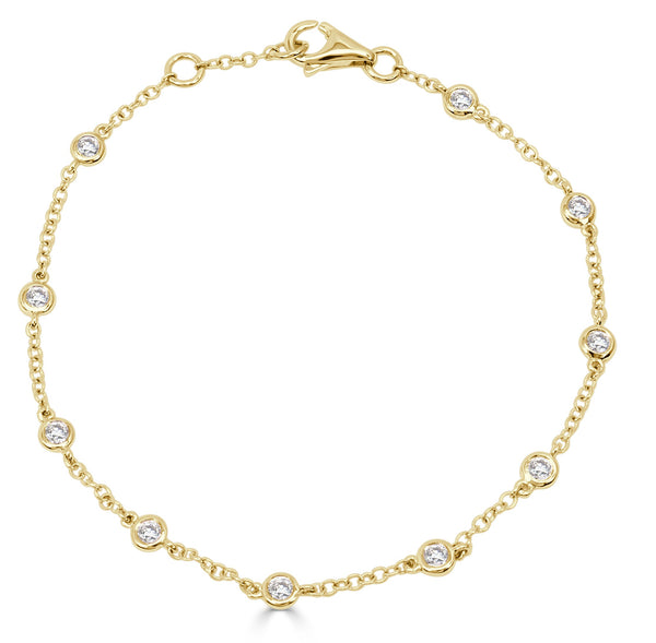Sabrina Designs 18k Yellow Gold Diamond by the Yard Bracelet