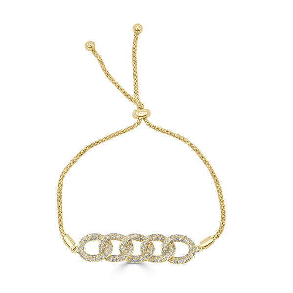 Sabrina Designs 18k Yellow Gold Diamond Link Bolo Bracelet