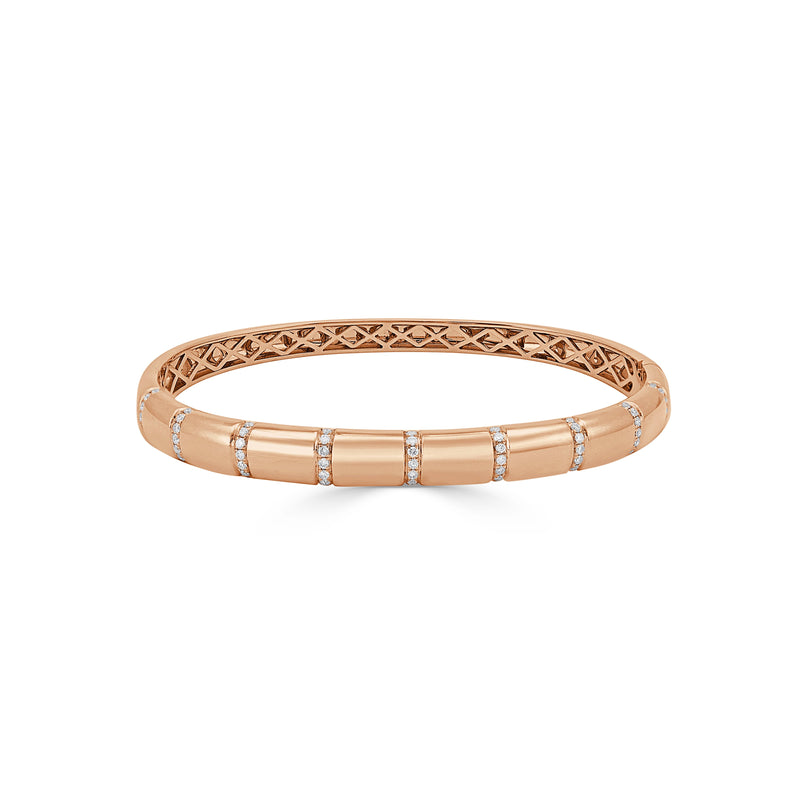 Sabrina Designs 18k Rose Gold Diamond Bangle