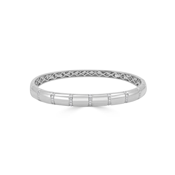 Sabrina Designs 18k White Gold Diamond Bangle