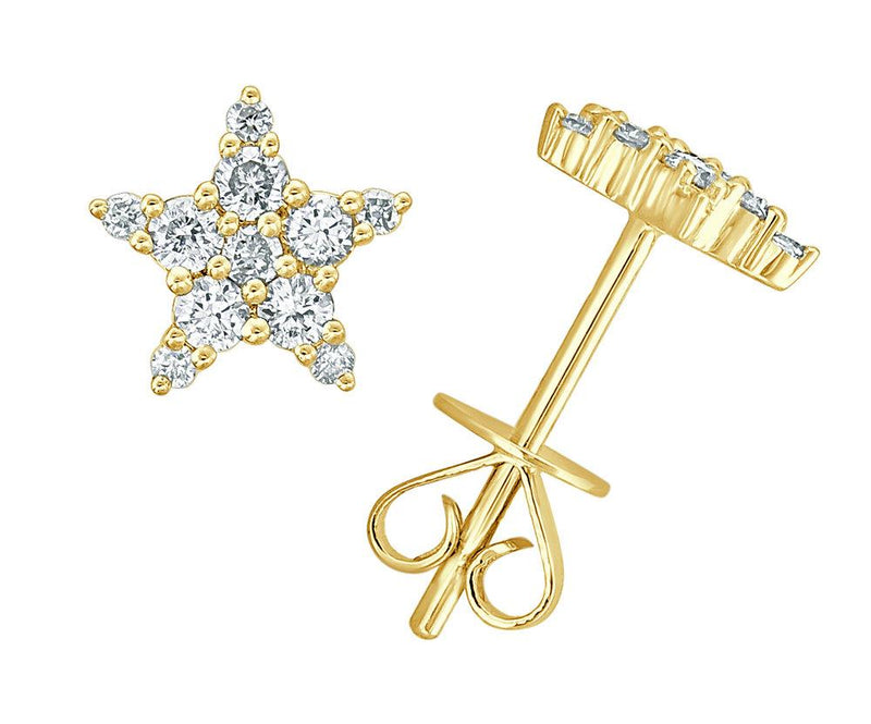 Sabrina Designs 18K Yellow Gold Diamond Star Studs