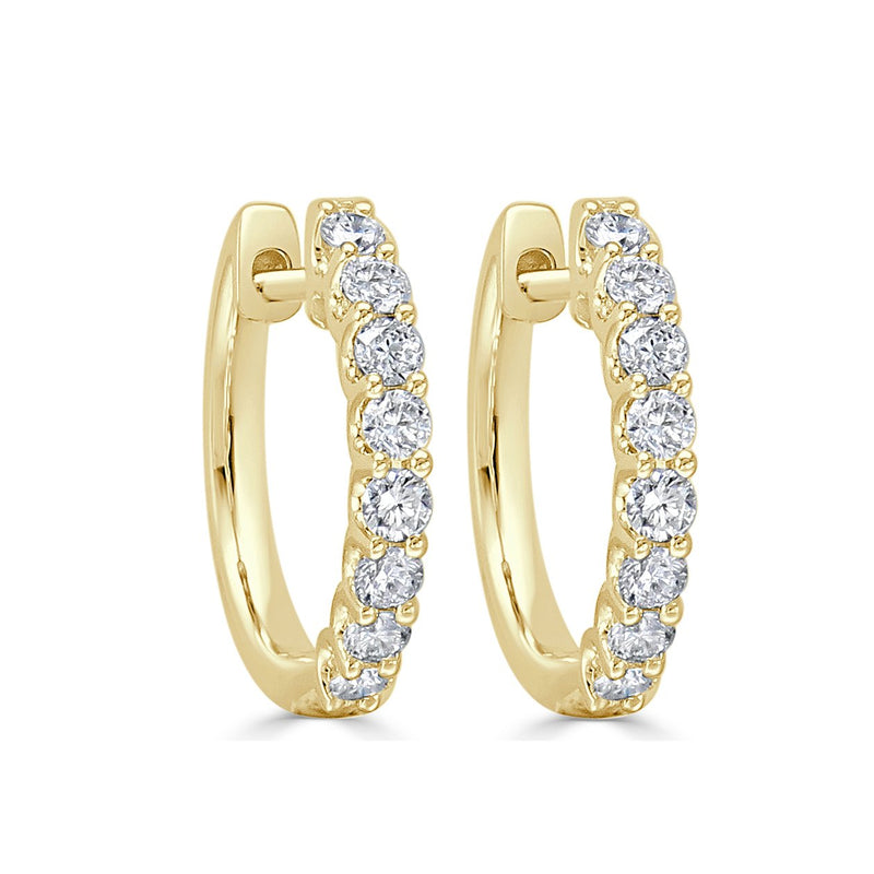 Sabrina Designs 18k Yellow Gold Round Diamond Hoops