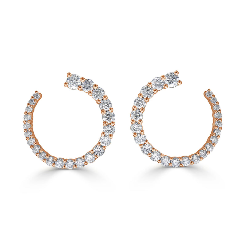 Sabrina Designs 18k Rose Gold Diamond Earrings