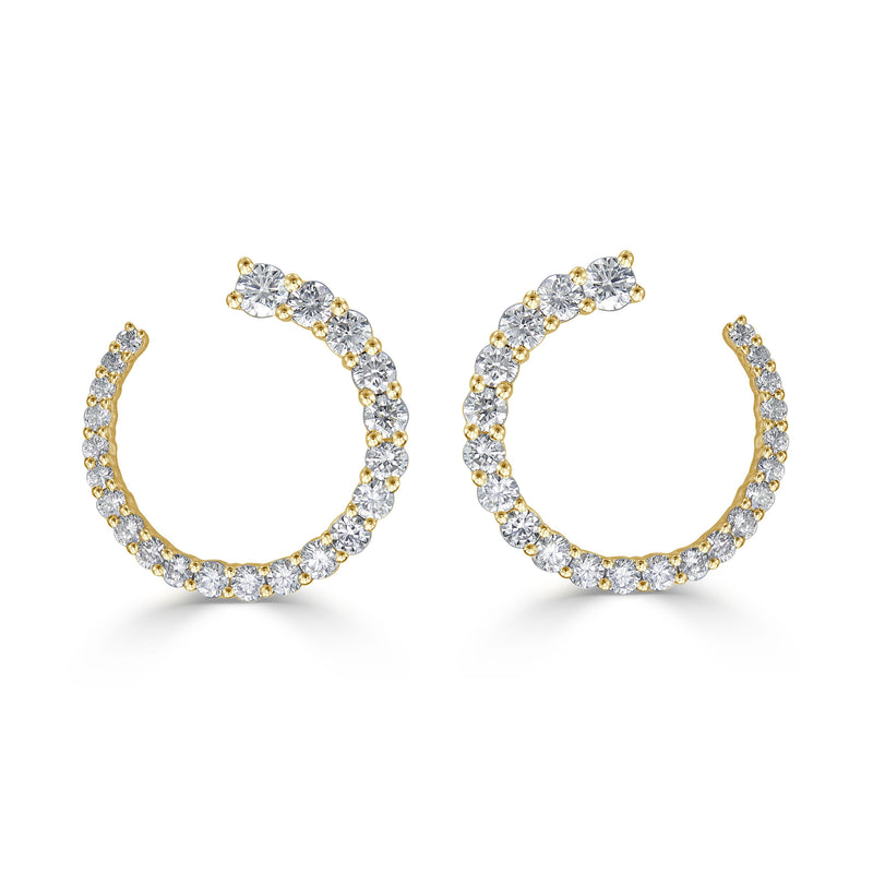 Sabrina Designs 18k Yellow Gold Diamond Earrings