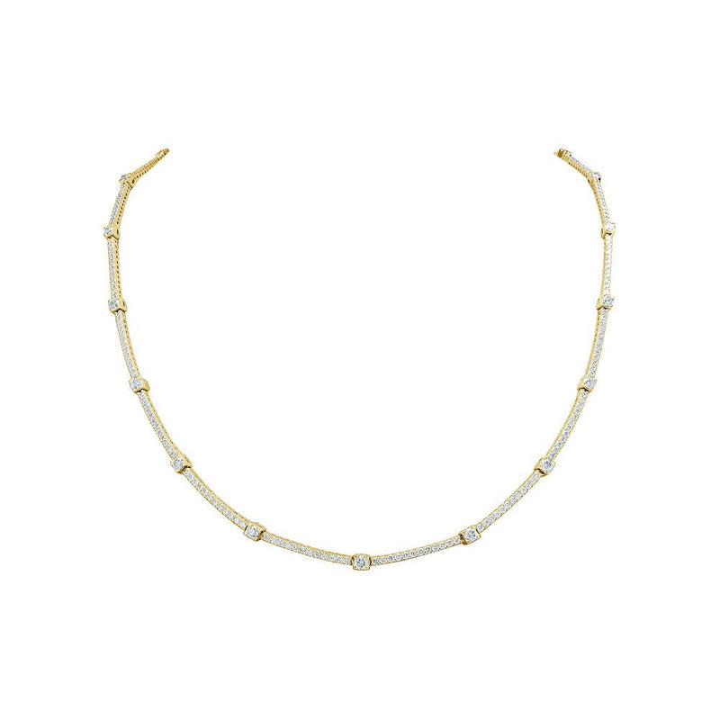 Sabrina Designs 18K Yellow Gold Diamond Tennis Necklace