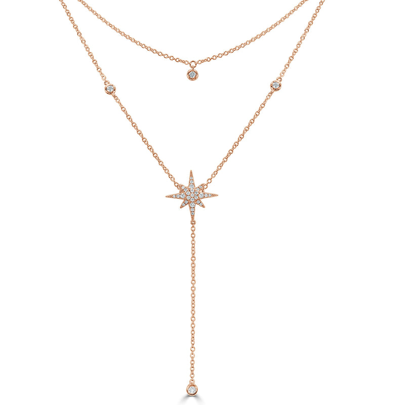Sabrina Designs 18K Rose Gold Diamond Starburst Necklace