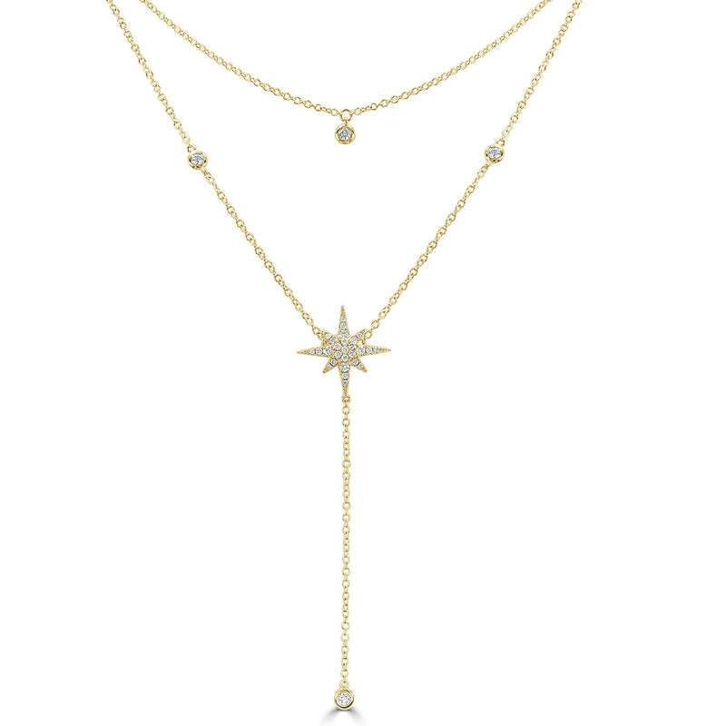 Sabrina Designs 18K Yellow Gold Diamond Starburst Necklace