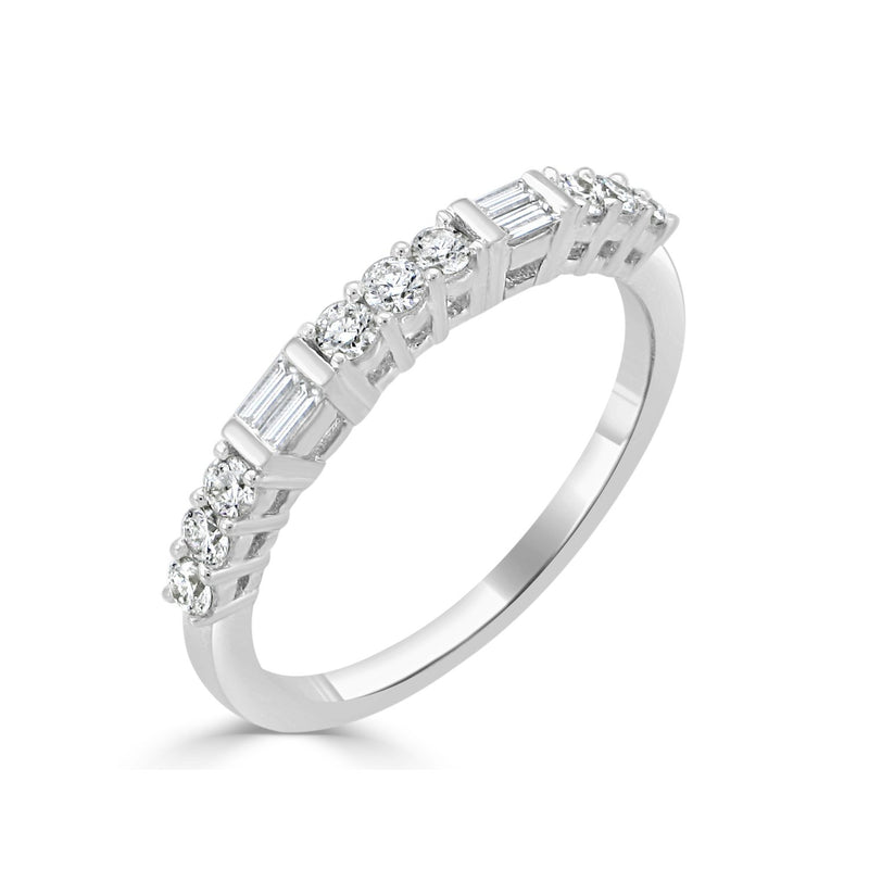 Sabrina Designs 18k White Gold Diamond Stackable Ring
