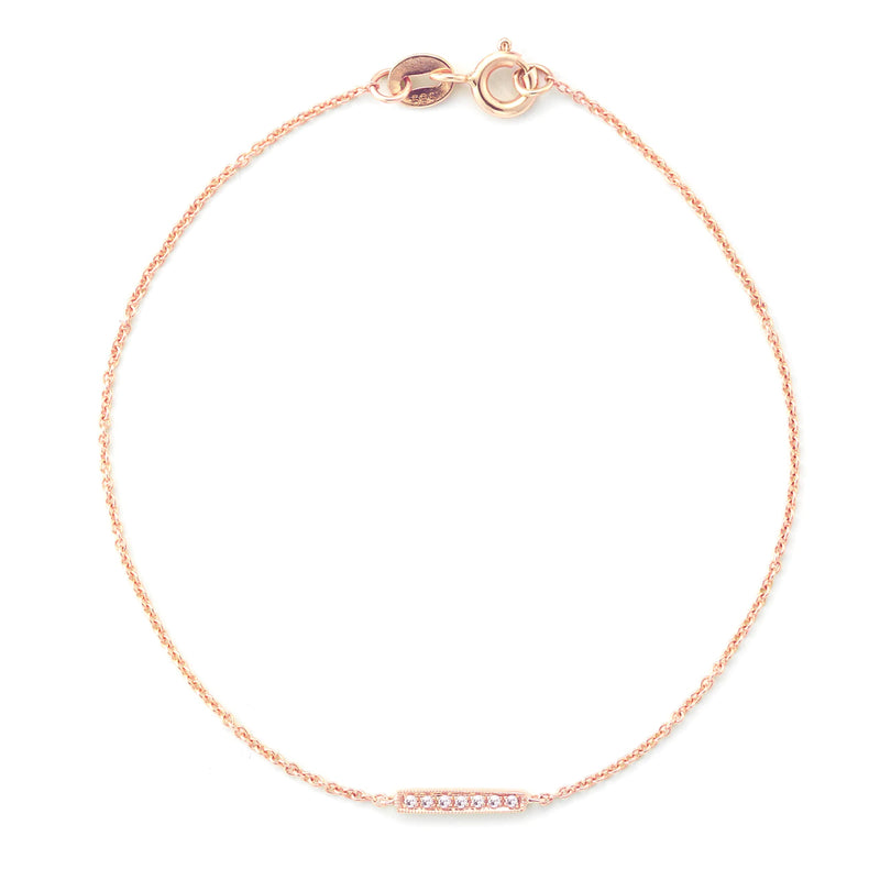 Dana Rebecca Designs Silvie Rose Diamond Single Bar Bracelet