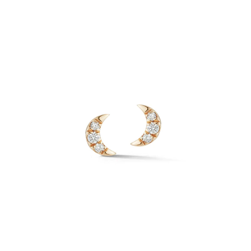 Dana Rebecca Designs Mini Cresent Moon Studs