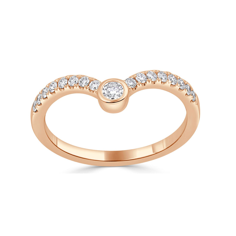 Sabrina Designs 18k Rose Gold Diamond Ring