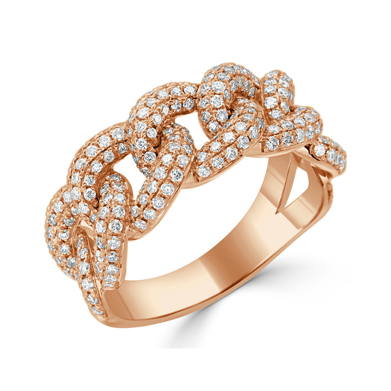 Sabrina Designs 18K Rose Gold Diamond Link Ring