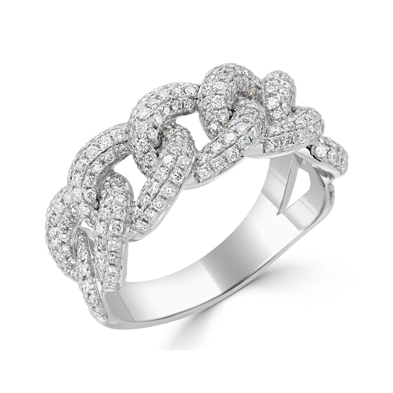 Sabrina Designs 18K White Gold Diamond Link Ring