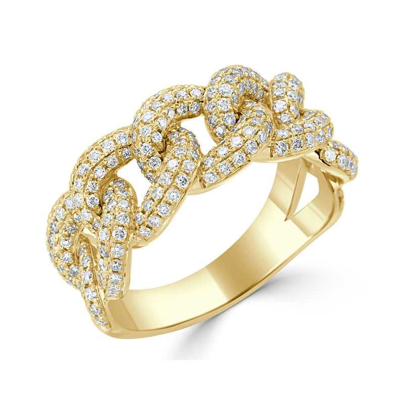 Sabrina Designs 18K Yellow Gold Diamond Link Ring