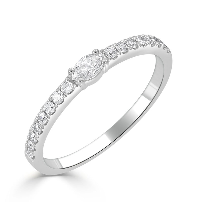 Sabrina Designs 18K White Gold Diamond Stackable Band