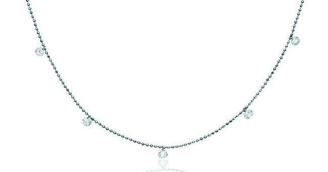 5 Stone Dashing Diamonds by the Yard Necklace