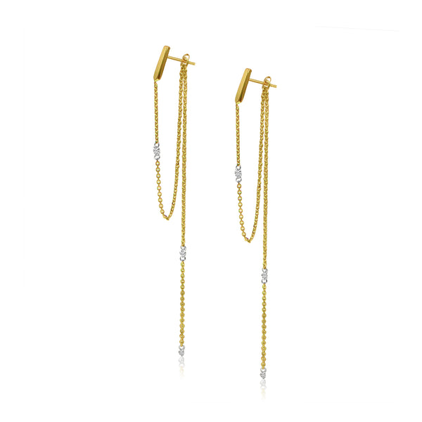 Dashing Diamond Chain Earrings