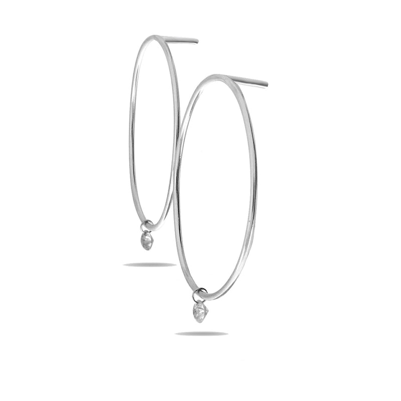 Dashing Diamonds Bar Hoop Earrings